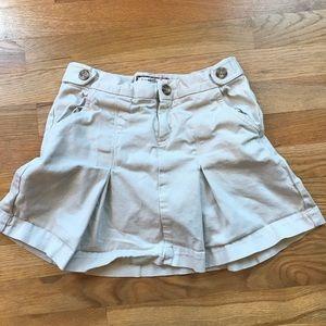 Old Navy twill khaki uniform skirt pleated